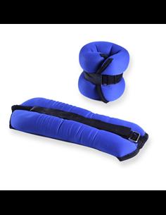 Tobilleras / Muñequeras Par 2 Kg - Neopreno - Color Azul