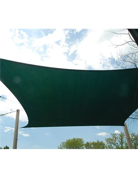Toldo Vela Cuadrado Verde 150gr/m2