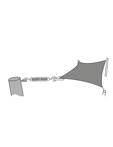 Accesorios Toldo Vela cuadrado/ rectangular