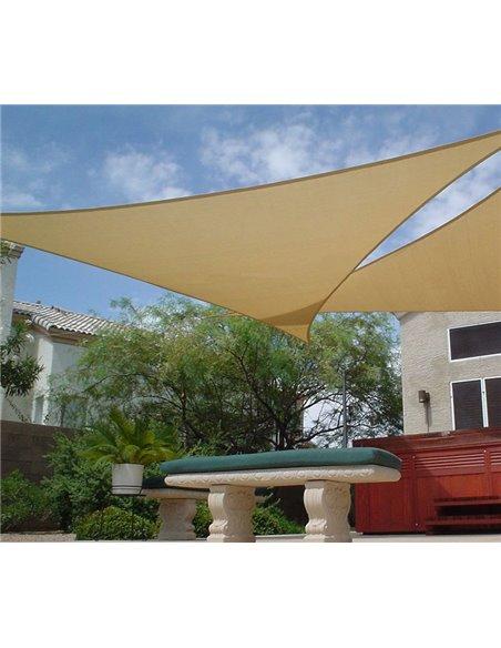 Toldo Vela Triangular Verde 150 gr/m2