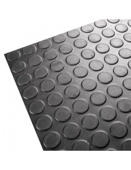Suelo Goma Circulo Negro - Rollo 3 mm 15 x 1,50 m