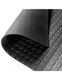 Suelo Goma Circulo Negro - Rollo 3 mm 15 x 1,40 m