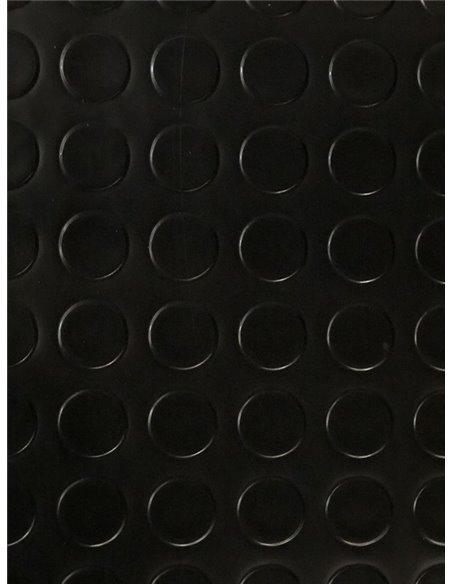 Suelo Vinilico PVC Circulos Negro