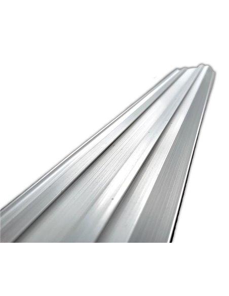 Rodapie Aluminio Labio Inferior Plata