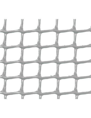 MALLA PLÁSTICA CUADRADA 0,5x0,5 cm GRIS