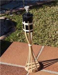 Antorcha de bambú con base