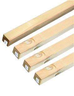 Poste de madera cuadrado