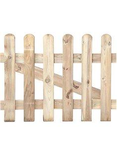 Puerta de valla clásica de madera