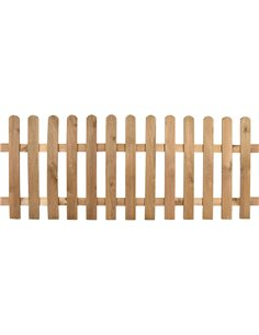 Valla de madera clásica con relieve