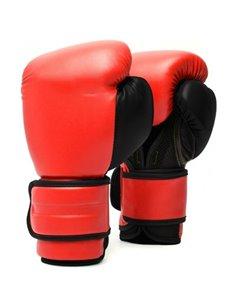 Guante Boxeo Piel Rojo/Negro
