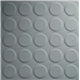 Suelo Goma Círculo Gris - m2 Espesor 3 mm