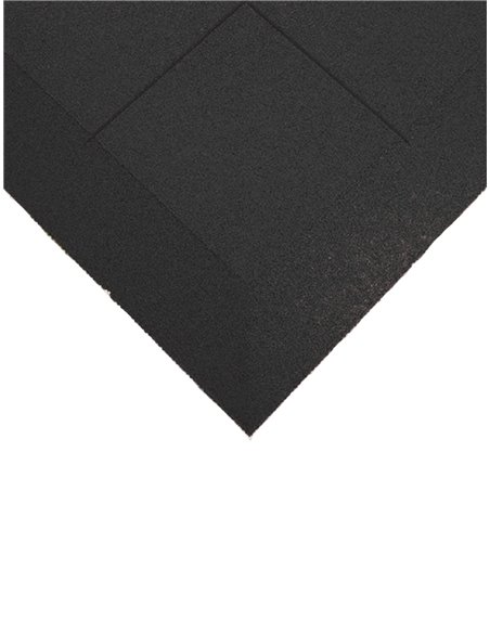 Loseta de caucho 1x1m - 40mm - Esquina