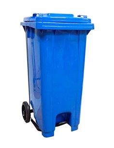 Contenedor de basura 120L - Con pedal - Azul