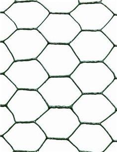 Malla metálica hexagonal plastificada Verde - 25mm
