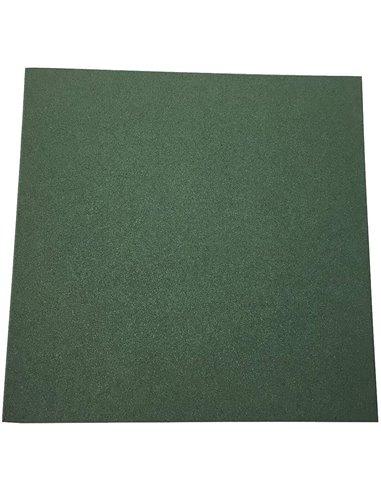 Loseta de Caucho Verde - 20 mm 50x50
