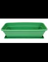 Jardinera 60 cm Verde con Plato incorporado - Maceta con agujeros de drenaje