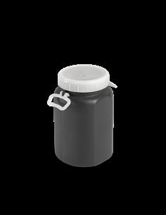 Bidón de plástico con boca ancha Gris de 15 litros