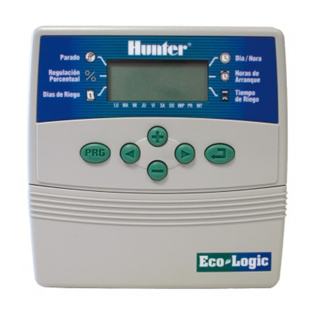 Programador De Riego Hunter ECO-LOGIC. Interior 4 Estaciones