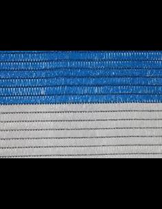 Malla de Ocultación Bicolor - Rollo 100m Blanco y Azul