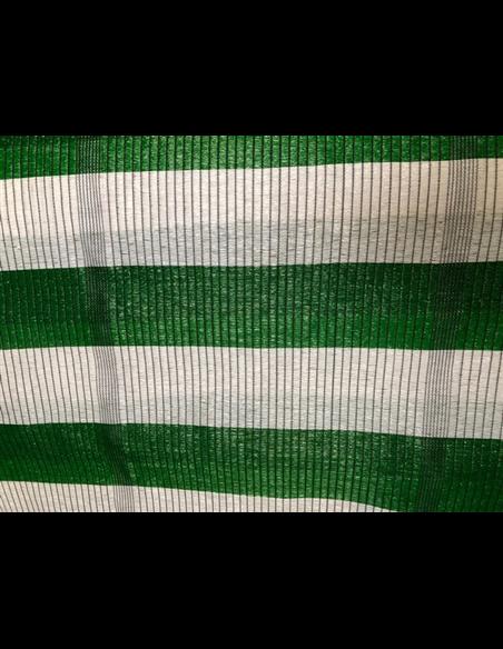 Malla de Ocultación Bicolor - Metro lineal Verde y Blanco