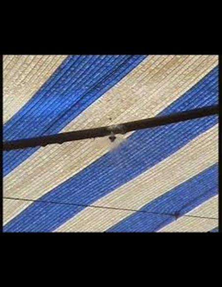 Malla de Ocultación Bicolor - Metro lineal Azul y Blanco