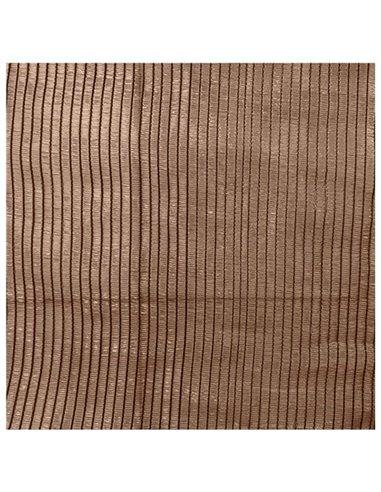 Malla de Ocultación Marrón - Rollo 100m PREMIUM