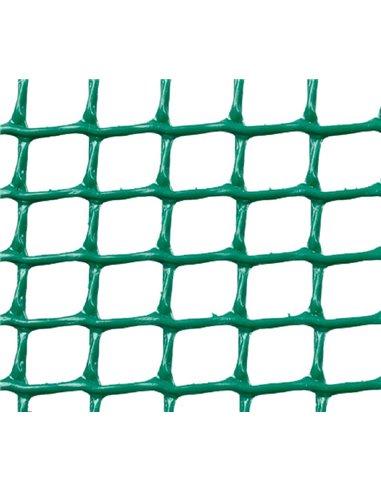 MALLA PLÁSTICA CUADRADA 0,5x0,5 cm VERDE