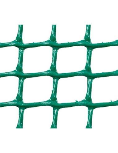 MALLA PLÁSTICA CUADRADA 1x1 cm VERDE