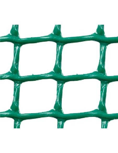 MALLA PLÁSTICA CUADRADA 2x2 cm VERDE