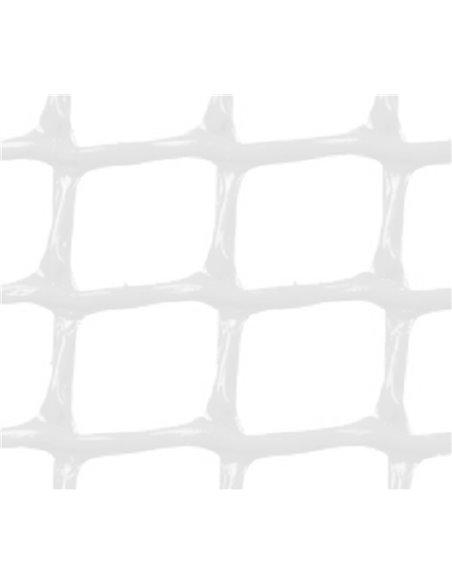 MALLA PLÁSTICA CUADRADA 2x2 cm BLANCA