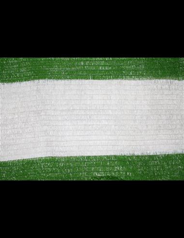 Malla de Sombreo Bicolor - Metro lineal Verde y Blanco