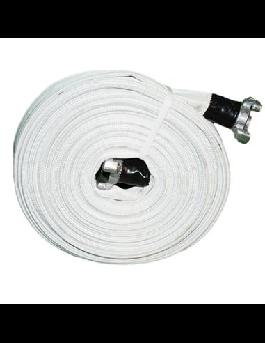 Manguera Contraincendios Blanca.70 mm racorada