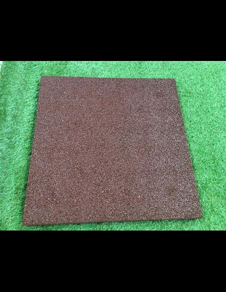 Loseta de Caucho Rojo - 23 mm 50x50