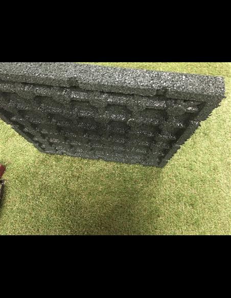 Loseta de Caucho Verde - 43 mm 50x50