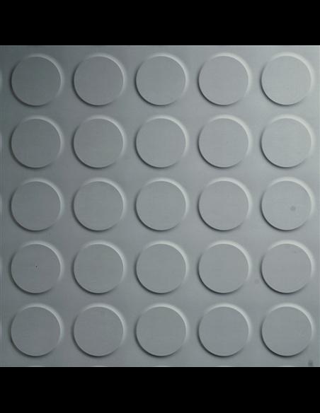 Suelo Goma Círculo Gris - metro cuadrado Espesor 3 mm