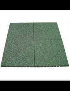 Loseta de Caucho Verde - 43 mm 1x1m