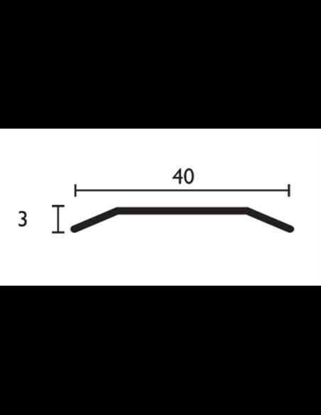 Pack 10 unidades.Transición Aluminio Dos Alas - 40mm